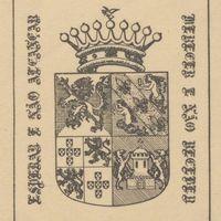 Ex-libris. João d'Ornelas Bruges d'Oliveira. Conde da Praia da Victória