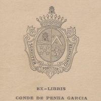Ex-libris. Conde de Penha Garcia [José Capelo Franco Frazão]